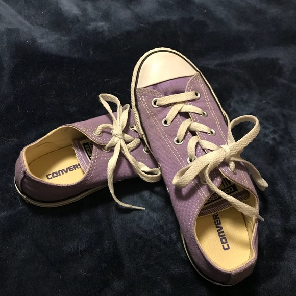 648076aecad Converse Other - CONVERSE GIRLS SIZE 3 PURPLE TENNIS SHOES